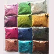 Rikonka 10G holographique paillettes poudre brillant sucre argent ongle Fine paillettes poussière Nail Art décorations manucure 21 couleurs 0.2mm