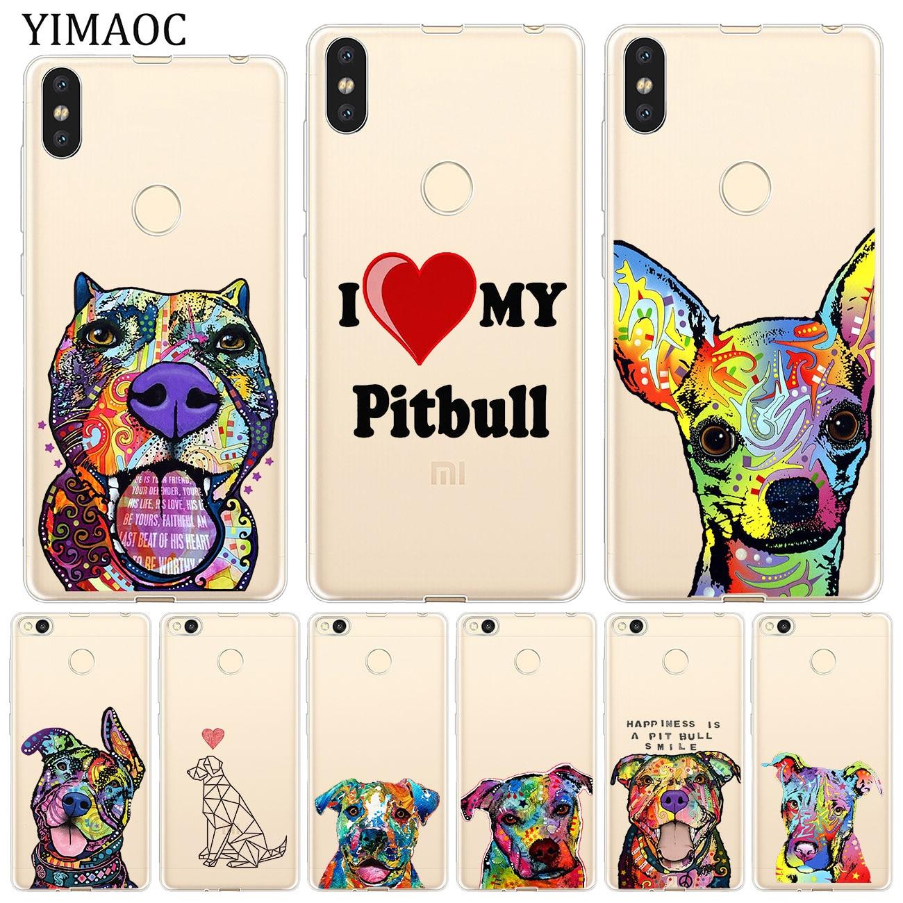 YIMAOC Pitbull dog Soft Silicone Phone Case for Xiaomi Mi 9 9T CC9 CC9E A3 Pro 8 SE A2 Lite A1 MiX 2