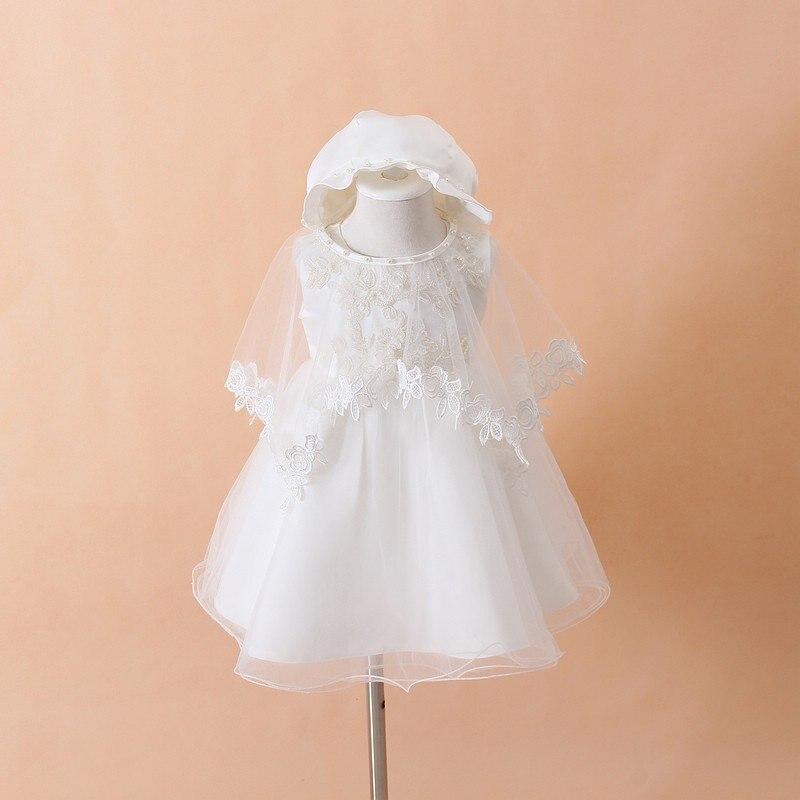 Baby taufe kleid weiß tulle infant prinzessin taufe dress kleinkind baby mädchen party hochzeit kleider größe 0-18 mt