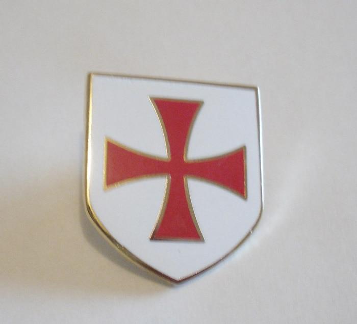 Envío gratis 1 Uds insignia masónica de solapa de la Cruz Roja caballeros PIN de solapa con forma de escudo