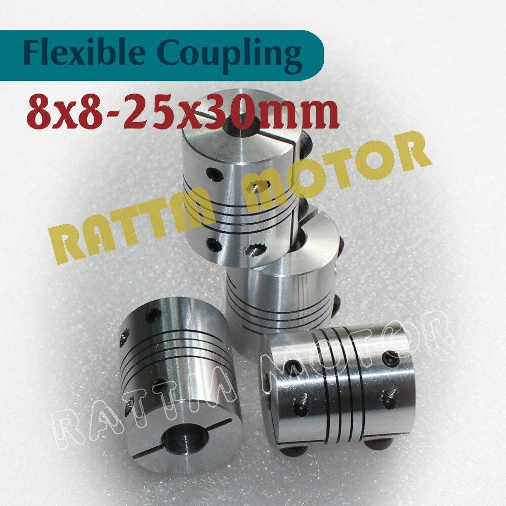 4 Uds Flexible motor de pasos de acoplamiento 8x8mm CNC enrutador molino