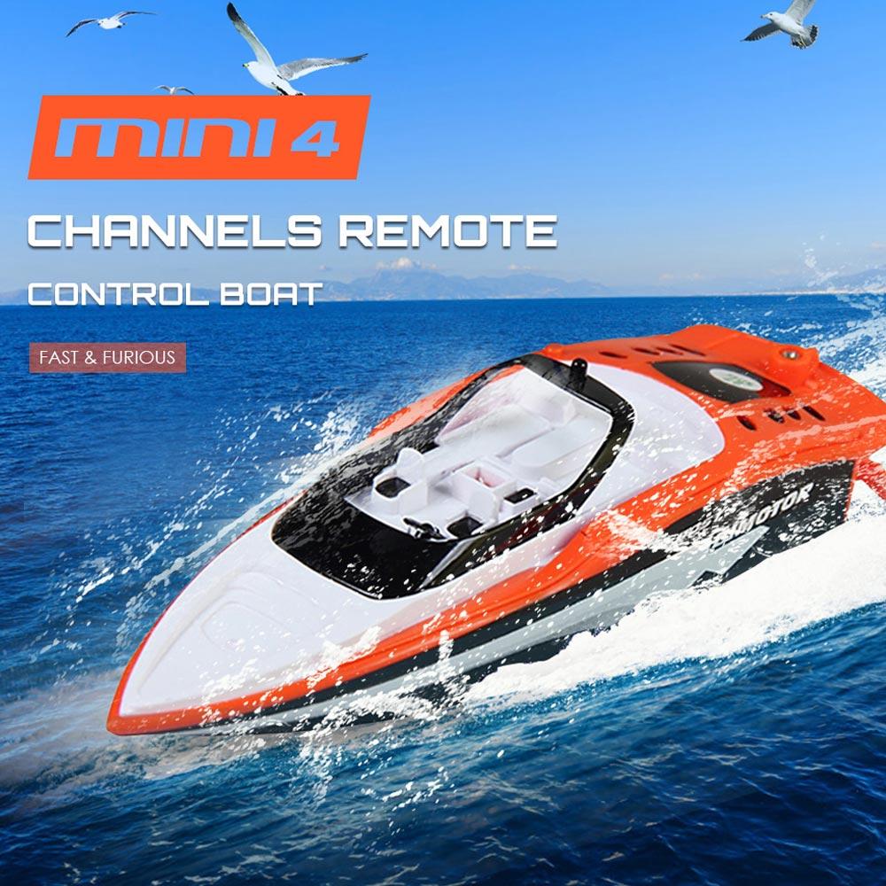 Aiboduo 2,4 V 4 CH RC barcos de plástico eléctrico de Control remoto Mini barco tigre de peluche de juguete de 3392 M