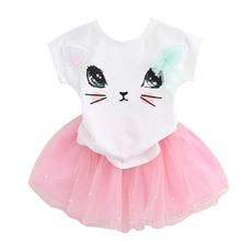 New 2019 Custom Summer Baby Kids Girl Princess Children Girl Kids Dress Cloth Party Mini Dress Vestidos Infants 2-6 Baby Dresses