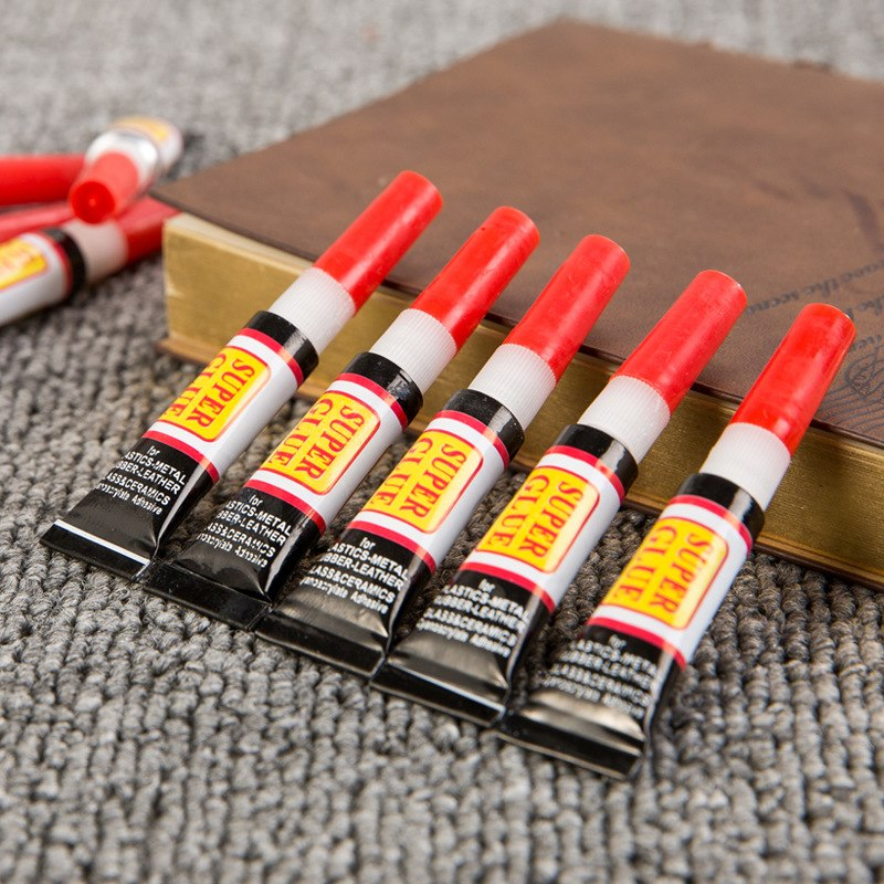 10 Uds pegamento líquido Super 502 instantáneo fuerte Bond cuero madera caucho Metal vidrio cianoacrilato adhesivo papelería tienda uñas Gel