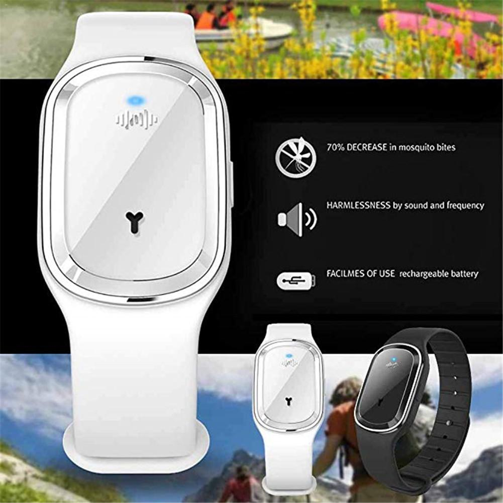 Portable Ultrasonic Mosquito Repellent Leather Bracelets Mosquito Repellent Wristband Couple watch m