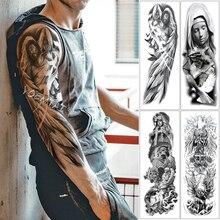 Татуировка в виде крыльев Ангела, водостойкая Временная тату-наклейка с надписями «крыльями ангела», «голубь», «Иисус», «святость», тату с Тотем