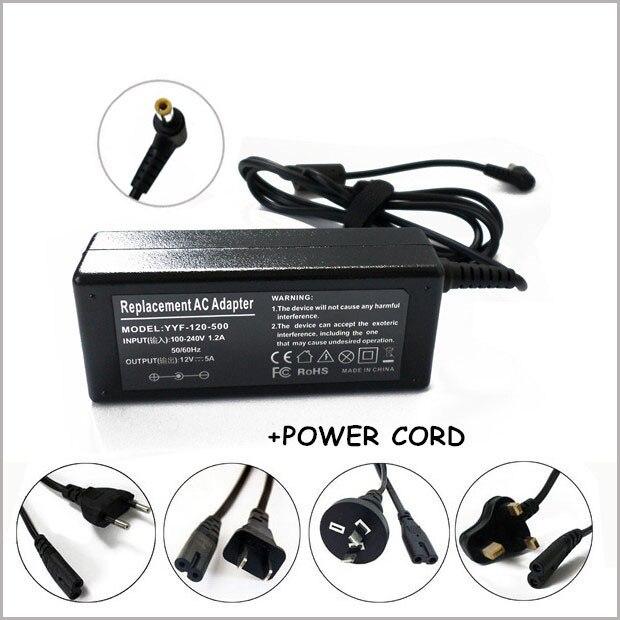 Nuevo adaptador de 12V 5A AC cargador de batería cable de alimentación para AKAI LCT2060 LCD TV