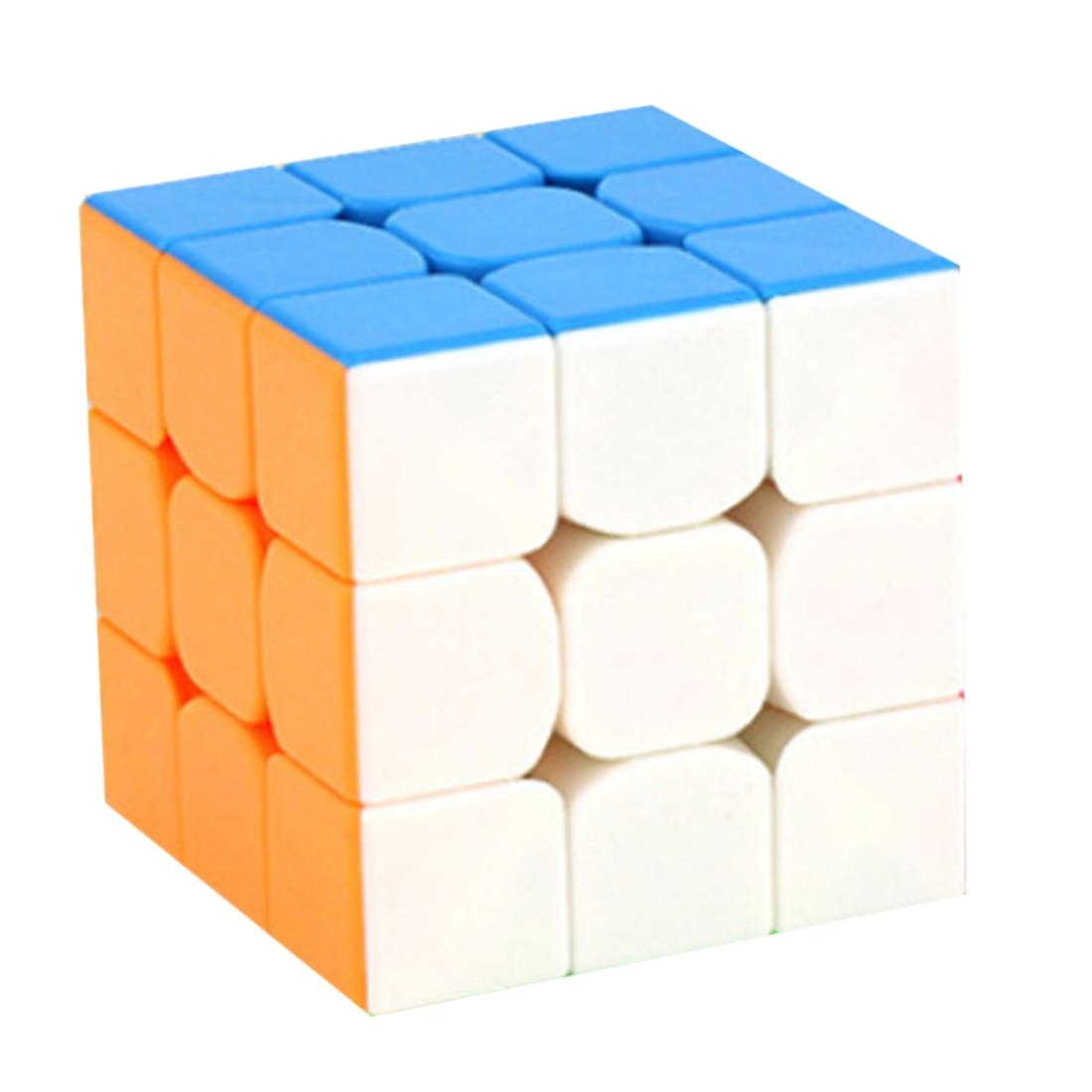 Cubo mágico Moyu colorido Mini 3x3x3 de tres capas competición profesional Cubo de velocidad sin pegatinas rompecabezas Cubo mágico juguete fresco Niño