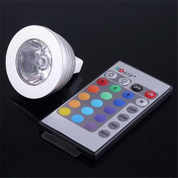 5PACK MR16 3W 1X3W LED Dimmable/24Keys Remote-Controlled/Decorative RGB Spotlights RGB LED lamps 16 Color Change bulb 12V