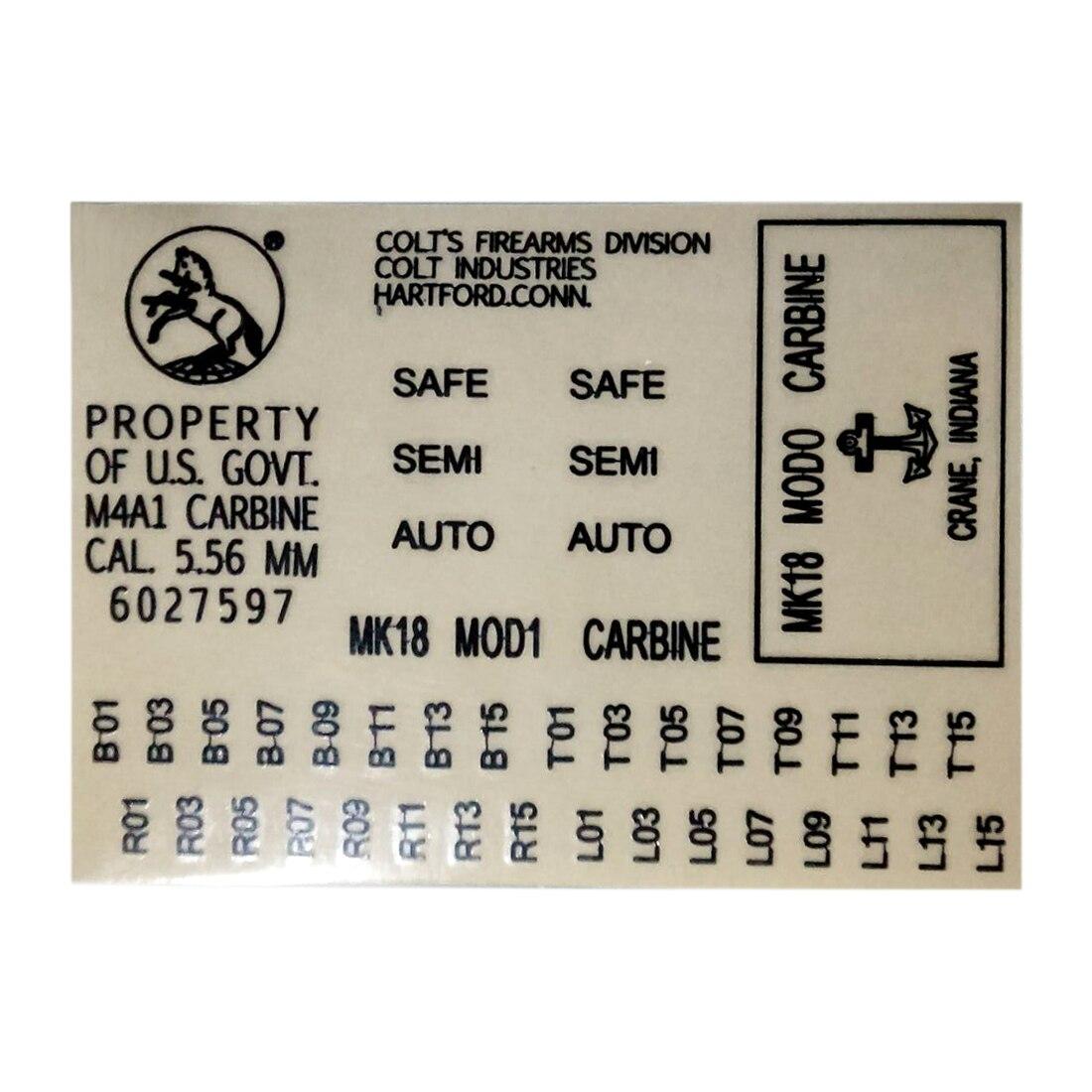 Surwish металлические наклейки для гелевого шара, приемник картриджей M4 MK18