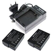 2 (paquet) DMW-BLC12, BLC12E, BLC12PP, BLC12 Batteries + chargeur pour Panasonic Lumix FZ1000, FZ200, FZ300, G5, G6, G7, GH2, DMC-GX8