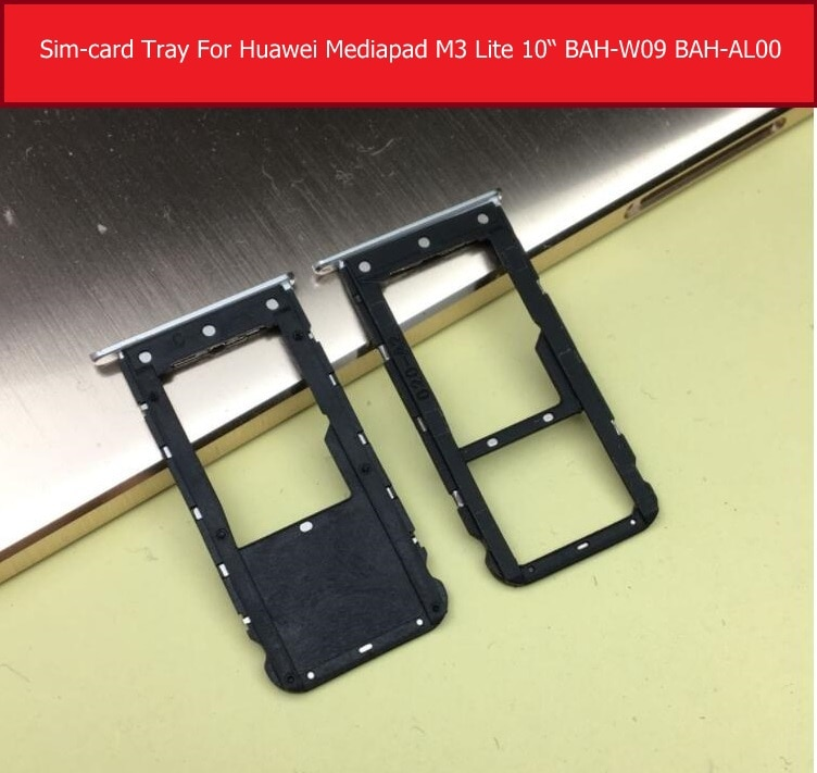 Оригинальный разъем для sim-карты для Huawei MediaPad M3, замена держателя лотка для картридера для sim-карт, версия LTE и Wi-Fi, для Huawei MediaPad M3, BAH-AL00, BAH-W09, LTE