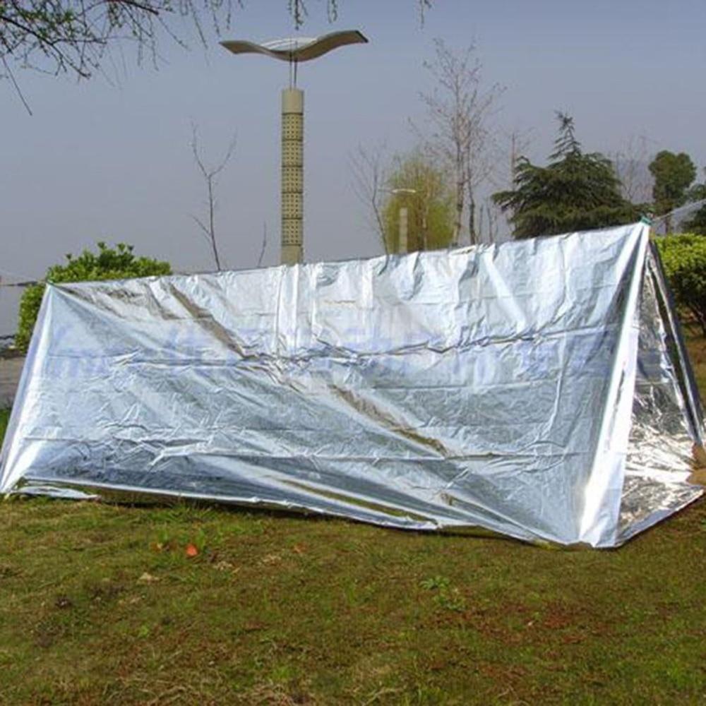 Новое наружное водонепроницаемое одеяло для спасения при аварийной ситуации, фольга, термальное пространство, первая помощь, Серебряное сп...