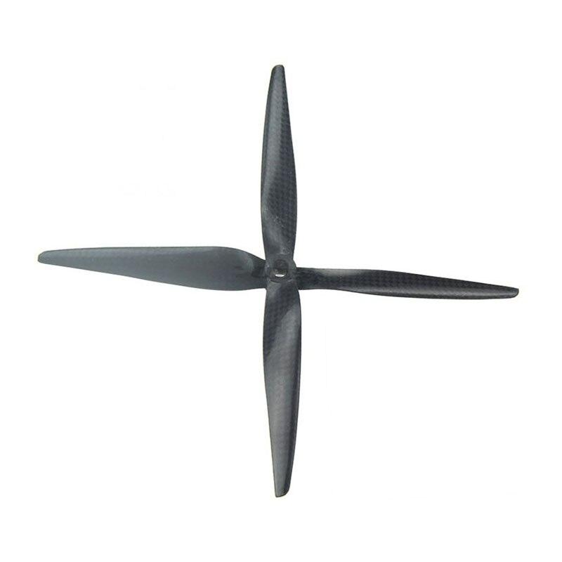 1 par APC 8050 8,0*5,0 pulgadas fibra de carbono CF hélice CW CCW para APC Quadcopter 6mm/8mm agujero