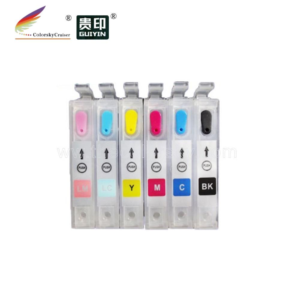 (RCE-801-806) recargable recarga cartucho de tinta para Epson T0801-806 80 foto R360 RX560 RX585 RX685 bkcmylclm