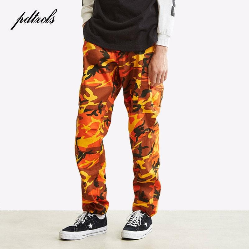 49Hot Camouflage Color Camo Cargo Pants 2018 Men's Fashion Baggy Tactical Trouser Hip Hop Casual Cotton Pockets Pants Streetwear