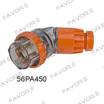 * 50A 4pin 3 المرحلة بزاوية الكهربائية التوصيل IP66 56PA450