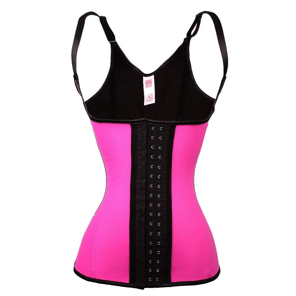 النساء اللاتكس حزام الصدرية محدد شكل الجسم حزام كورست مدرب خصر 4 قطعة الصلب الجوفاء 3 خطاف
