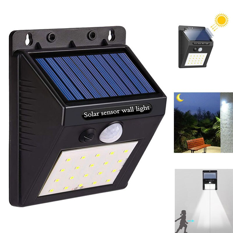 20LED Solar Powered Wall Light PIR Motion Sensor Solar Light Waterproof Outdoor Lighting Led Garden Light Front Door Porch Lamps