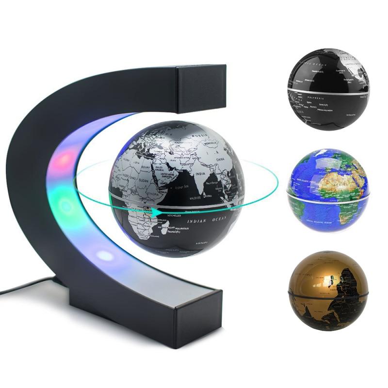 Levitation Anti Gravity Globe LED Night Light Bedside Table Lamp for Kids Gift teaching resources World Map High Tech LED Night