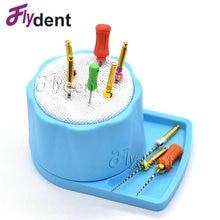 Soporte de limpieza Dental Endo, soporte de plástico, caja esterilizadora Autoclave, fresas para herramientas de cuidado bucal