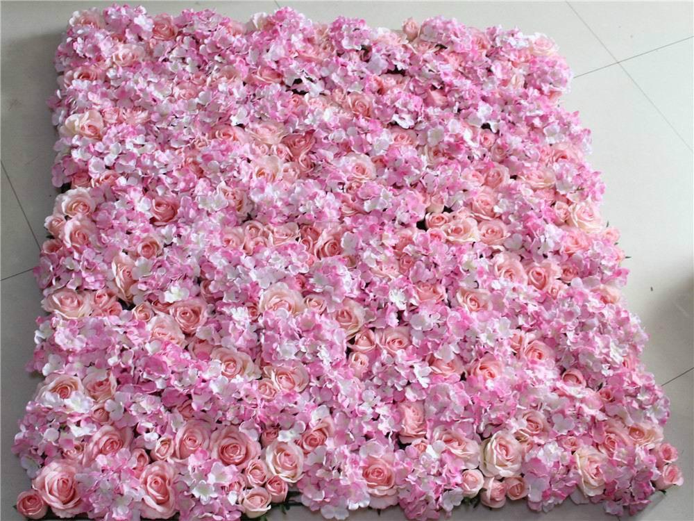 SPR Shipping-pink-10pcs gratis/lote flor de Rosa de seda artificial pared de fondo de boda césped/Pilar camino plomo decoración del mercado