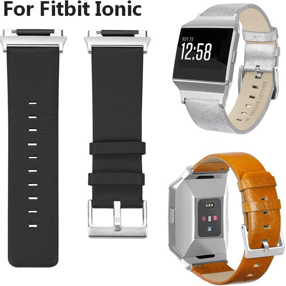 Leather Watch Band para Fitbit COMLYO Iônica Pulso Relógio Inteligente Pulseira Substituição Pulseira Para Fitbit Ionic Pulseiras de relógio da Correia
