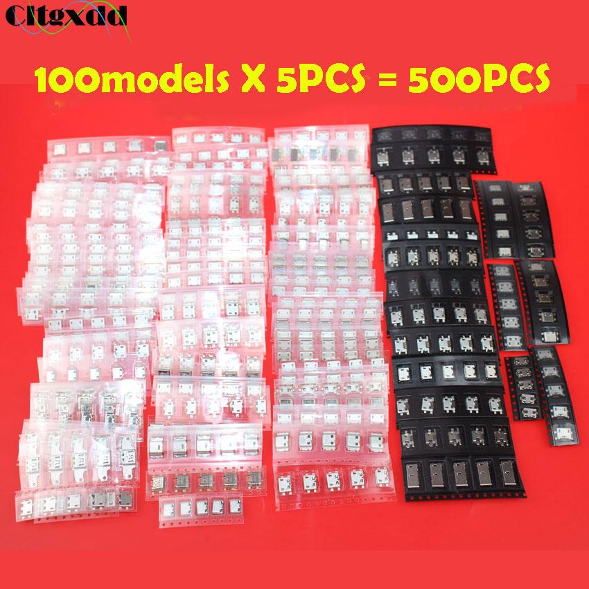 Cltgxdd 100 моделей 5pin разъем Micro USB, гнездо USB, гнездо Mix SMD DIP V8 порт для Lenovo Samsung Xiaomi Huawei Nokia и т. Д.