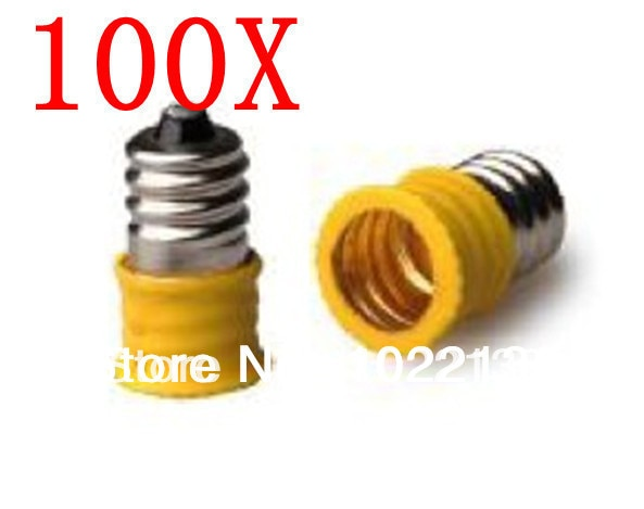 100pcs E12-E12 LED socket adapter Lamp Holder adapter lamp base Converter Free Shipping With Tracking No.