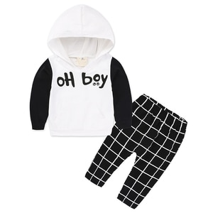 Baby Clothing Casual Boys Girls Sets infant long sleeve Kids hooded Sweatshirts+pants suit hoody+trousers 2pcs clothes 3m-24M