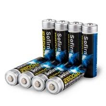 Piles rechargeables AA NiMh 2600mAh pour lampe de poche LED piles préchargées haute capacité avec 1000 Cycle 8 pièces protégées