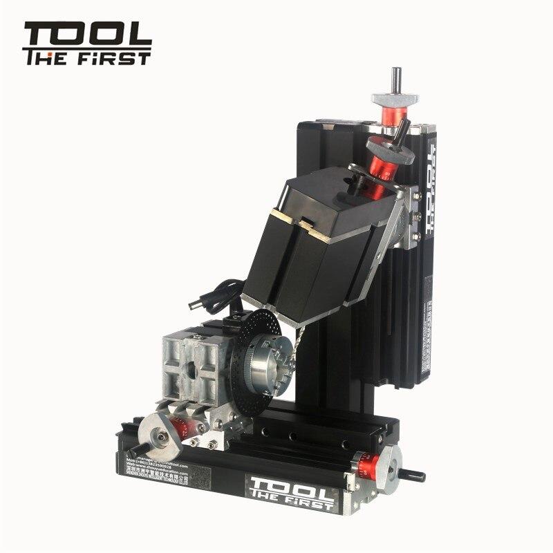 Thefirsttool-آلة حفر وطحن ذات ستة أعمدة TZ10002MS ، محرك 60 واط ، افعلها بنفسك ، للأطفال ، أفضل هدية