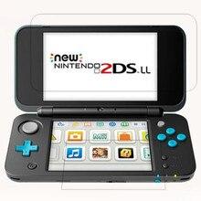 Temperli cam Nintendo yeni 2DS XL LL 2DSXL 2DSLL 2 DS yukarı + aşağı ekran koruyucu oyun konsol koruyucu film Guard