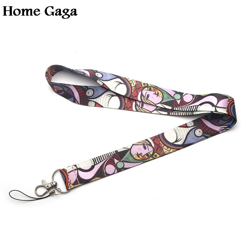 Homegaga Pablo Picasso покраска шеи ремешки для ключей очки держатель для карт брелок для телефонов камеры лямки D0343