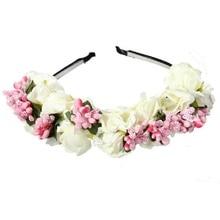 Guirlande fleurie bandeau pour mariée   Décoration de Festival, bal, bal, couronne florale princesse, serre-tête