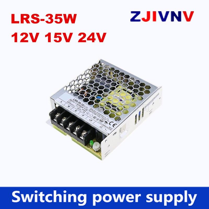 LRS-35-12v 15v 24v puede reemplazar meanwell LRS-35W-12V 3A, fuente de alimentación conmutada de salida única 35W 24V 1,5 a