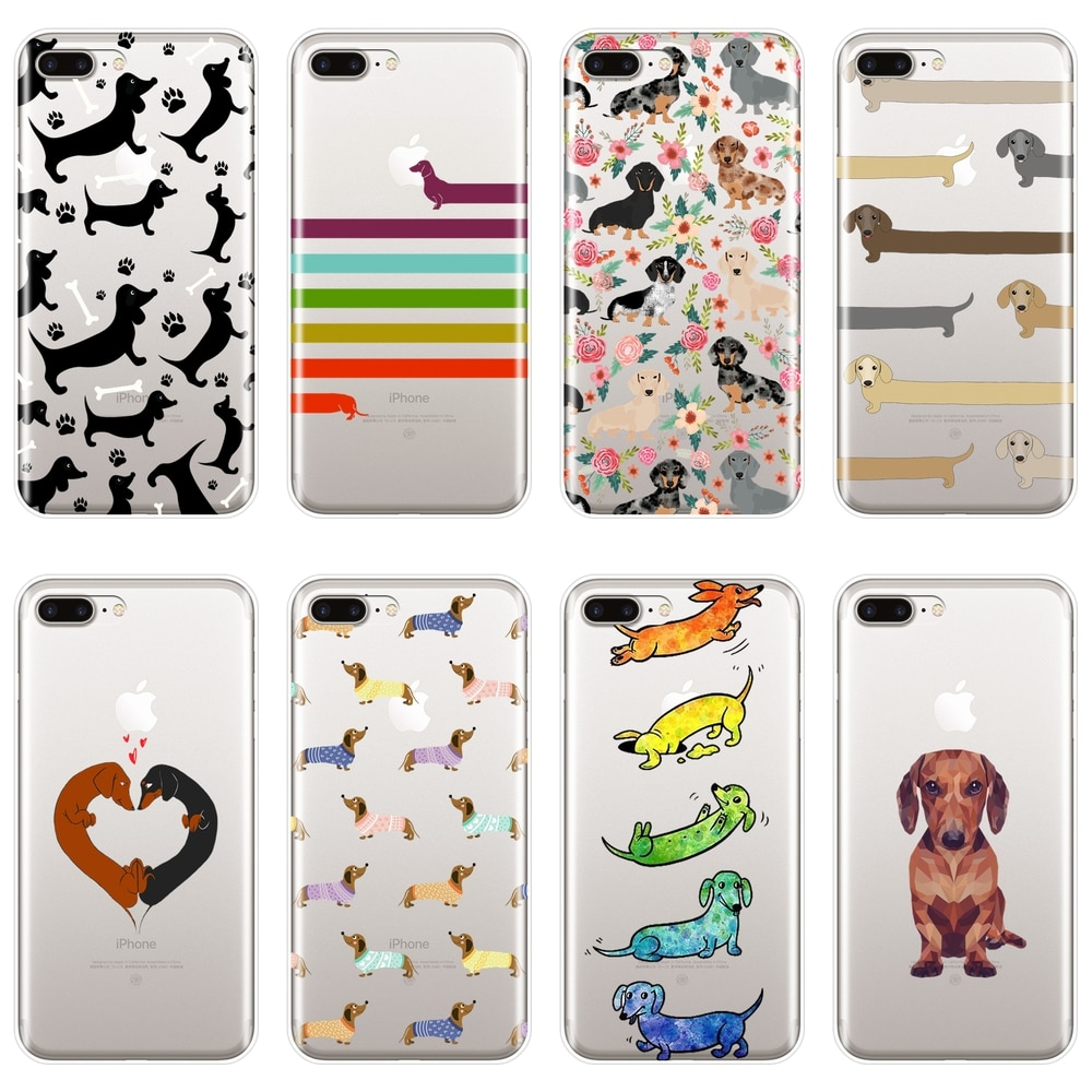 רך מקרה טלפון עבור iPhone X XR XS מקסימום 8 7 6 S 6 S סיליקון תחש כלב לב אהבה kawaii חזרה כיסוי עבור iPhone 6 S 6 S 7 8 בתוספת