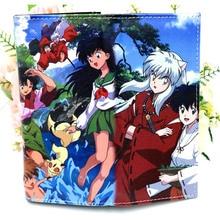 Anime Inuyasha Higurashi Kagome coloré Long portefeuille hommes et femmes porte-carte sac à main
