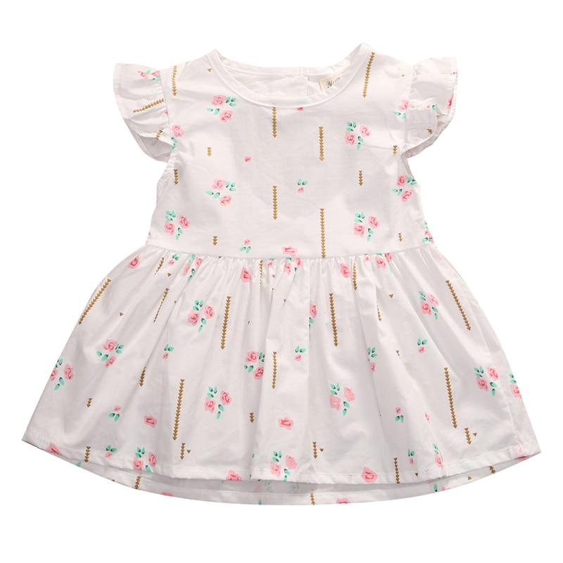 2017 New Summer Baby Princess chiffon Dress Girls Dress spring Girls Clothes tutu pink sleeveless Dresses