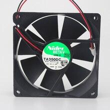 9 см 9025 четыре провода контроль температуры ШИМ шасси бесшумный вентилятор M33422-35 12В 0.29A