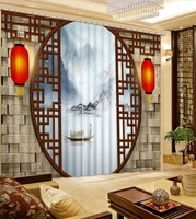 Chinese curtains lantern window curtain bathroom living room bedroom kids bedroom on the window curtains