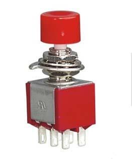 2 uds. Interruptor de botón de encendido-6mm (encendido) 6 pines interruptor de palanca PS-202