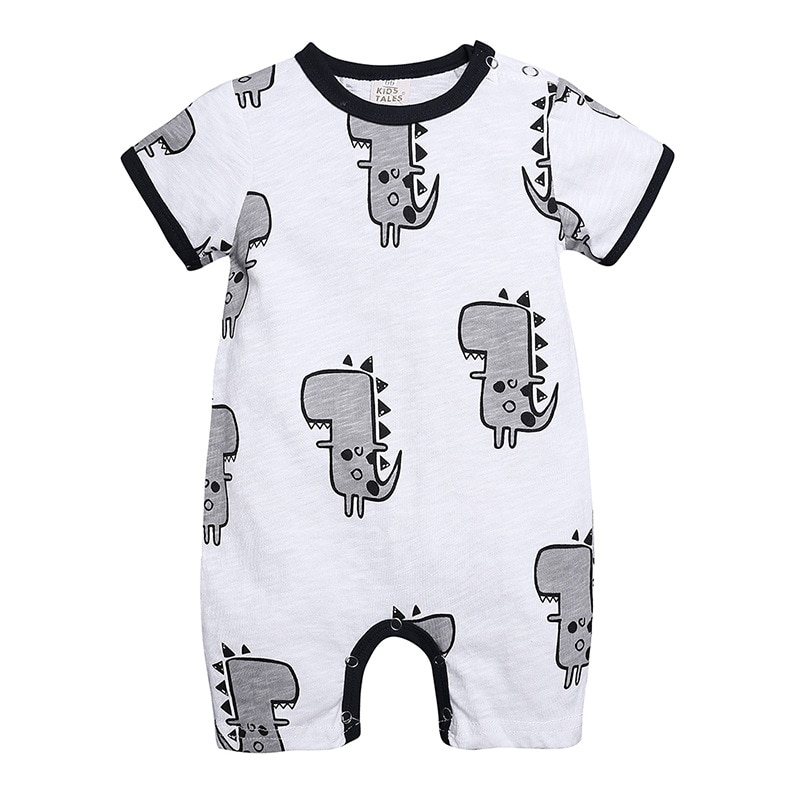 WASAILONG, nuevo Mono para bebé, sección delgada de verano, algodón 0-18 meses, traje de dinosaurio de manga corta para bebé, mameluco para recién nacido