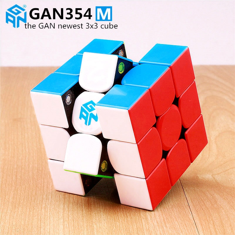 Gan 354 M Magnetic puzzle magic speed Gan cube 3x3 sticker less professional Gan354 M magnets cube GAN354M toys for kid