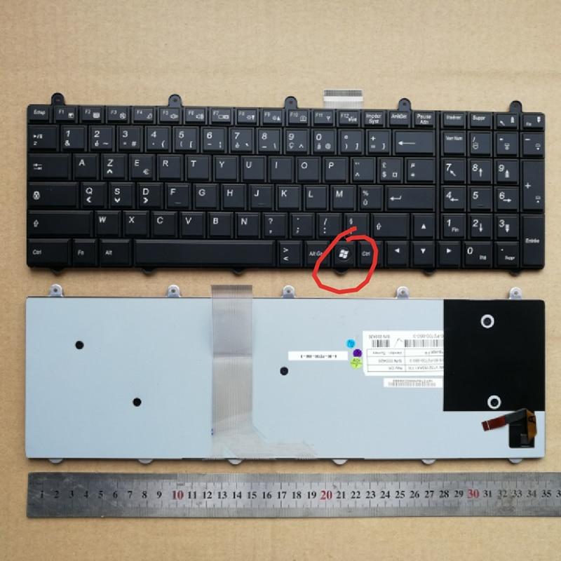الفرنسية تخطيط جديد لوحة المفاتيح لابتوب Clevo P150SM P170SM P270WM P377SM-A P570WM3 الخلفية Tastatur فوز 7