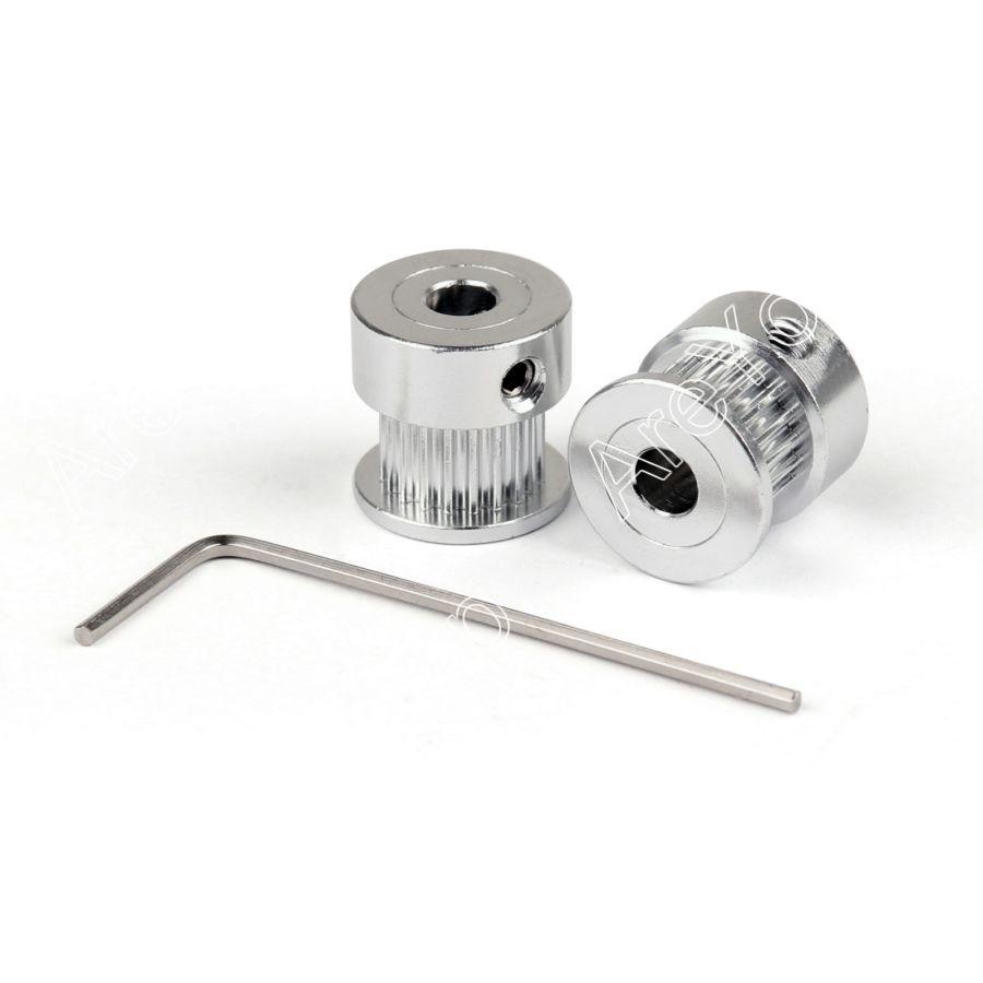 Areyourshop Sale 20Pcs GT2 20T 5mm Bore Aluminum Timing Belt Pulley For 3D Printer Parts Printer Parts