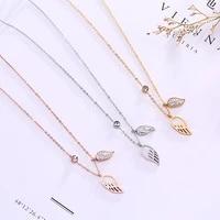 fashion jewelry titanium jewelryfashionable classic wing titanium steel necklace
