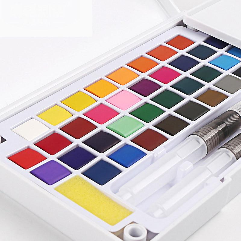 12/18/24/36 farben Tragbare Reise Feste Pigment Aquarell Farben Set Mit Wasser Farbe Pinsel Stift Für Malerei kunst Liefert      -
