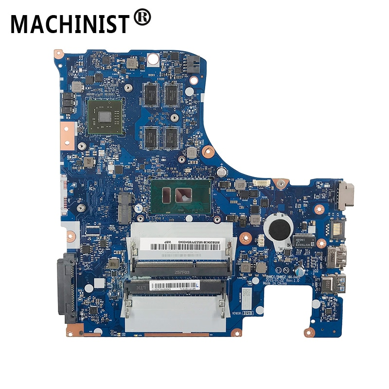 Original para Lenovo IdeaPad 300-15ISK laptop placa base I5-6200U CPU DDR3 5B20K38185 BMWQ1/BMWQ2 NM-A481 100% totalmente probado
