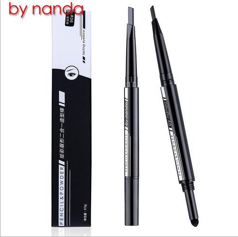 De nanda tercera generación lápiz de cejas en polvo lápiz doble duradero impermeable sin florecer